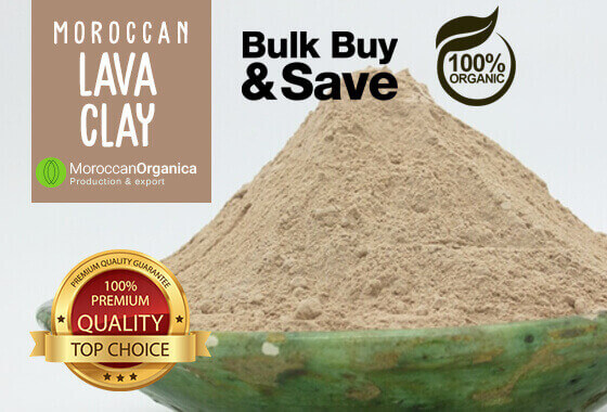 EXTRA MOROCCAN LAVA CLAY  GHASSOUL 100% ORGANIC